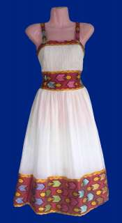 Exquisite ሳባ ጥበብ (Saba Tibeb) Design Ethiopian Cotton Dress