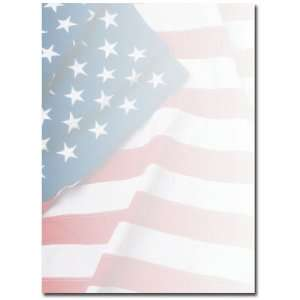 American Flag Letterhead & Flyer Paper Patio, Lawn