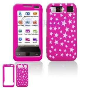 Hot Pink with Silver Stars Sparkle Design Laser Cut Silicone Skin