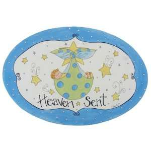 The Kids Room Heaven Sent with Baby Boy in Blanket Oval