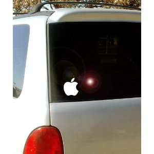 Apple Logo   Vinyl Decal Sticker 5 White