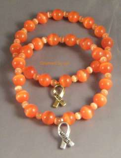 MS MULTIPLE SCLEROSIS Awareness Cats Eye Bracelet