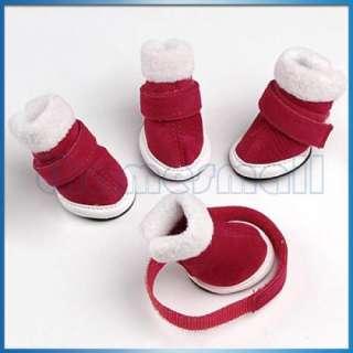 Warm Walking Pet Dog Cozy Shoes Boots Clothes Apparel 1