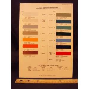 1963 CHEVROLET Truck Paint Colors Chip Page General Motor