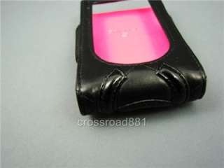 AUTH CHANEL BLACK QUILTED LAMB SKIN I POD CASE GOOD