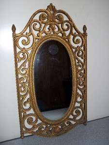Ornate Vintage Syroco Wall Mirror 2316 dated 1969