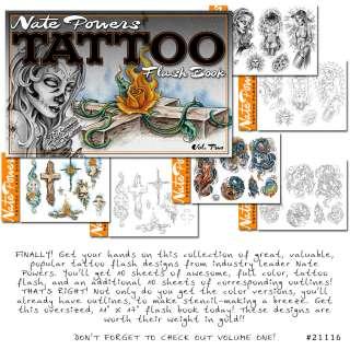 Tattoo Flash Book Nate Powers Vol 2 Sexy Ladies Dragons
