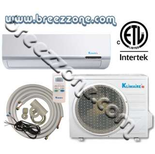 KLIMAIRE DUCTLESS MINI SPLIT HEAT PUMP 13 SEER 18000 BTU 1.5 TON, 16FT