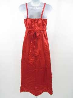 LILY DRESS Red Satin Sleeveless Dress Shawl Sz Girls 14