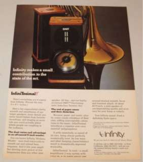 advertisement type vintage infinity infinitesimal speaker print ad