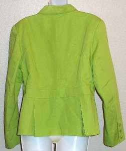 Lined Cotton Blazer  Pink, Aqua,Yellow,L me Misses Szs NWT $58