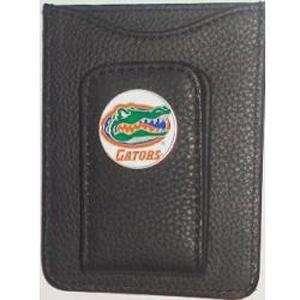 Florida Gators Black Leather Money Clip with Cardholder