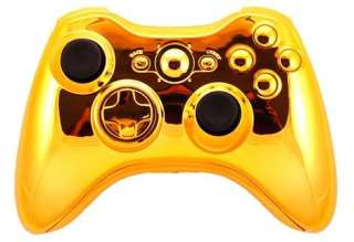 XBOX 360 controller mod kit case GOLD CHROME outer shell