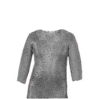 17  x 31  Silver Medieval Chain Mail Armor Shirt