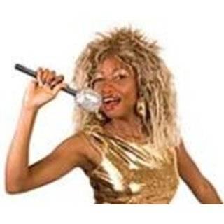 Tina Turner Fancy Dress Wig, Mic & Face Paint Kit