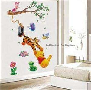 Disney Pooh Swing Flower Removable Wall Sticker Nursery