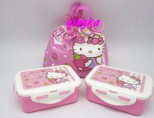 HELLO KITTY Lunch Box 2 pcs + Bag School Bento