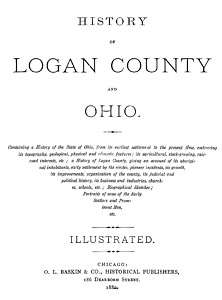 1880 Genealogy & History of Logan County & Ohio OH