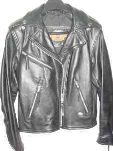 HARLEY DAVIDSON CHAP JACKET 100% LEATHER ZIPPER BUTTON PANT MOTORCYCLE