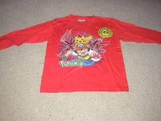 New Pokemon T Shirt Red Long Sleeve Size Medium