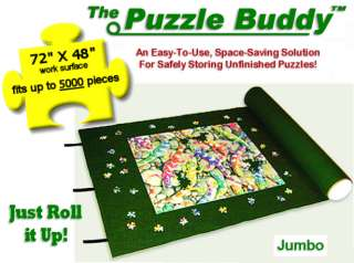 PUZZLE BUDDY 5000 Jigsaw Puzzle Storage Roll Up Mat Puzzle Caddy 72 x