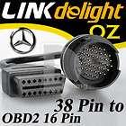 Mercedes Benz 38 Pin to 16 Pin OBD OBD2 Diagnostic Adapter Cable Cord