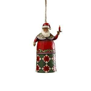 Jim Shore Heartwood Creek Santa with Candle Hanging