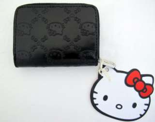 Loungefly Hello Kitty Small Black Embossed Wallet NEW