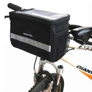 Cycling Black Bicycle Handlebar Bag Front Tube Pannier Rack Bag Basket
