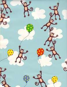 MONKEY BUSINESS GIFT WRAPPING PAPER  Large 30 Roll