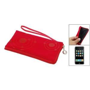 Gino Women Red Makeup Purse Bag Soft Pouch for iPhone 3G Electronics