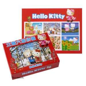 3D Puzzle   Sanrio Hello Kitty Puzzle Blocks (6 Scenes) Toys & Games