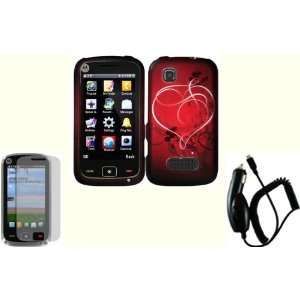 Heart On Stars Design Hard Case Cover+LCD Screen Protector