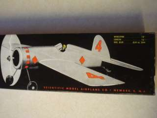 SCIENTIFIC * BEL AIR * CONTROL LINE MODEL AIRPLANE KIT **
