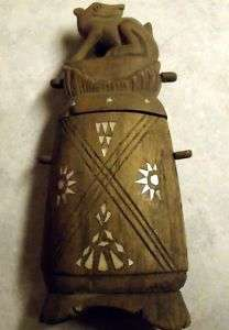 Antique Flask Abalone Primitive Native Louisiana Find