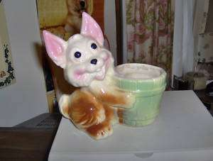 FREDERICKSBURG OHIO ART POTTERY BUNNY THUMPER PLANTER