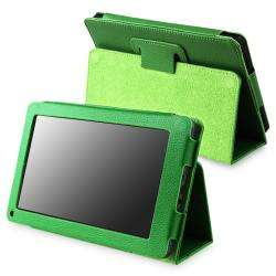 Green Leather Case with Stand for  Kindle Fire