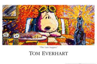 Peanuts: Snoopy, Last Supper Posters by Tom Everhart at AllPosters