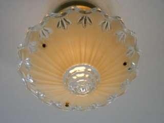 CLASSIC (3) CHAIN GLASS, ART DECO, CEILING LIGHT FIXTURE, CHANDELIER