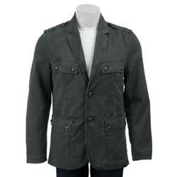 Calvin Klein Jeans Mens Printed Twill Military Blazer  Overstock