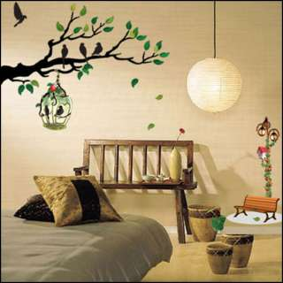 Tree & Bird Decor Mural Art Sticker Wall Paper ECO 014