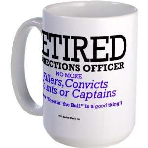 Retired Corrections Officer Mug Retired Large Mug by