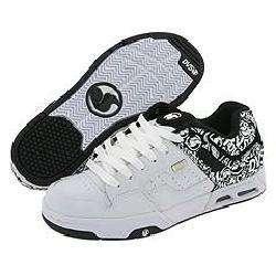 DVS Shoe Company Enduro Heir White/Black Leather Print