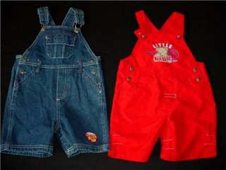 18pcs USED BABY BOY 18 24 MONTHS SUMMER OVERALL JUMPER DENIM OUTFIT