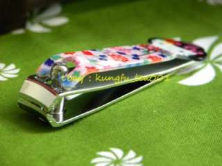 Japanese Girl Geisha Stainless Manicure Nail Clipper Cutter   Blue