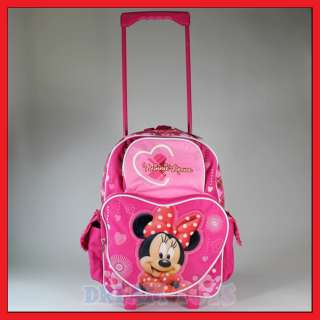 16 Disney Minnie Mouse Rolling Backpack 2 Roller/Bag