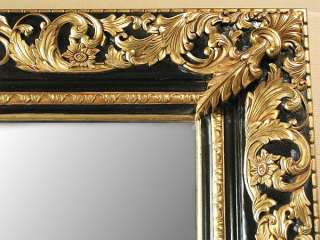 MASSIVE 8Ft MAHOGANY Wall MIRROR w/ Gold & Black Frame