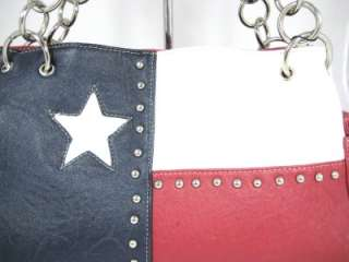 TEXAS FLAG RED WHITE BLUE LARGE PURSE & WALLET SET NWT