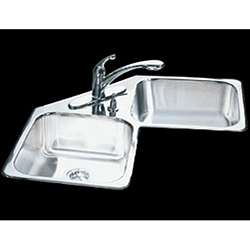 Kindred Specialty Double bowl Corner Kitchen Sink
