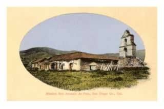San Antonio de Pala Mission, San Diego, California Premium Poster